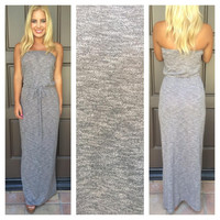 Monte Carlo Poolside Maxi Dress - HEATHER GREY