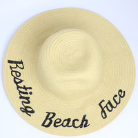 It's By Sam Resting Beach Face Hat