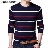 O-Neck Pullover Men Brand Clothing Cashmere Wool Sweater Men Casual Striped Pull Men 152