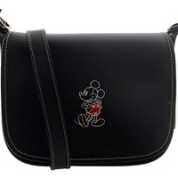 COACH MICKEY Patricia Saddle 23 in Glove Calf Leather with Mickey