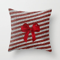 Glitter Xmas Throw Pillow by haleyivers | Society6