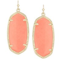 Elle Earrings in Coral Magnesite - Kendra Scott Jewelry