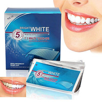 Grinigh Professional Teeth Whitening Gel Strips with Advanced Seal Technology | 14 Treatments, mint flavor