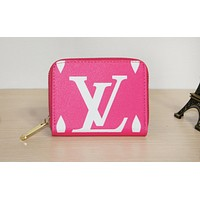 LV hot selling lady's casual clutch bag fashion printed zipper small purse #2
