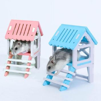 Pet Bed Nest Hamster House Wooden Climb Small Animal Pet Sleeping Cage Chinchillas Guinea-pig Hamster Nest