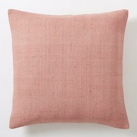 Silk Hand-Loomed Pillow Cover - Rosette