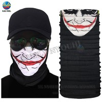 New Hot Funny Face Design Seamless Face Shield Mask Outdoot Cycling Multifunctional Headwear Tube Scarf Head Wrap Skull Bandana