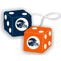 Denver Broncos NFL 3 Car Fuzzy Dice
