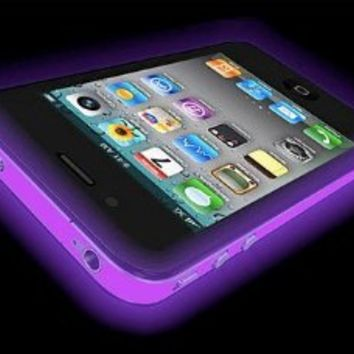 iPhone 5 Glow in the Dark (Glow Purple) Silicone Protective Case