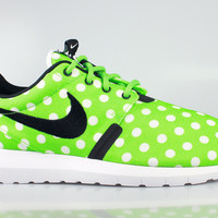 Nike Men's Roshe Run One NM Polka Dot Pack Lime
