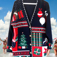 Ugly Christmas Sweater Tacky Christmas Sweater Holiday Sweater Christmas Cardigan Hipster Sweater Hipster Clothes Hipster Clothing Winter