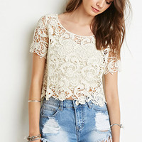 Floral Crochet Boxy Top