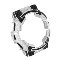 Checkered Design G Shock Watch Bezel