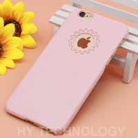 Candy Color Phone Case For iPhone 6 6S 6/6S Plus 4 4S 5 5S SE Cute Loving Heart Flower Lace Hard Back Cover Capa