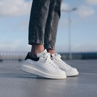 auguau Alexander McQueen Oversized Sneakers 'White/Black'