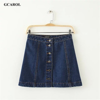 Women Brand A-Line Denim Skirts Single-Breasted Jeans Skirts High Quality Plus Size Fashion Casual Skirt For 4 Season