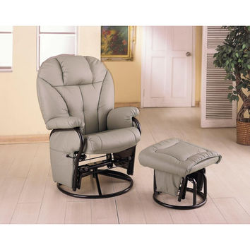 Glider and Ottoman by Coaster
