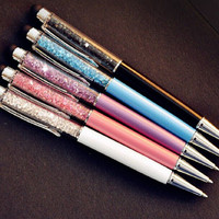 Crystal Ballpoint Pens with Stylus touch screen tip (Pack of 5)