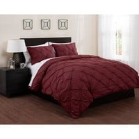 East End Living Pintuck Diamonds Duvet Cover and Sheet Bedding Set - Walmart.com