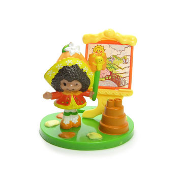 Orange Blossom & Marmalade Painting a Picture Vintage Strawberry Shortcake Deluxe Miniature Set