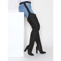 Over the Knee Suede high heel boots