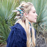 Spirit Tribe OG Feather ear cuff // statement, festival, dance, party, new years, holiday, wedding, gift