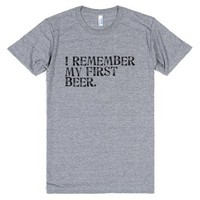 My First Beer-Unisex Athletic Grey T-Shirt