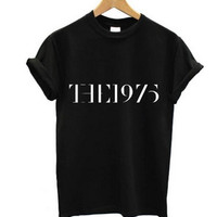 """The 1975"" Letter Print T-Shirt"