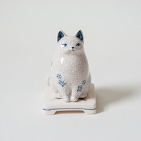 Ceramic Cat Incense Burner - Home & Housewarming - Gift & Home