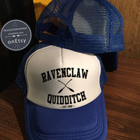 Ravenclaw quidditch Hats Ravenclaw Hats Hogwarts Caps Harry Potter Hats Trucker Hat