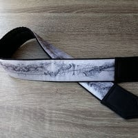 Abstract Design World Map Camera Strap. Handmade Camera Strap. Dslr Camera Strap. Men Camera Strap. For Traveller
