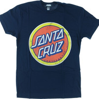 Santa Cruz Retro Dot Tee Small midnight Navy