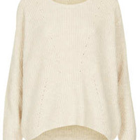 Knitted Clean Rib Jumper - Knitwear  - Clothing