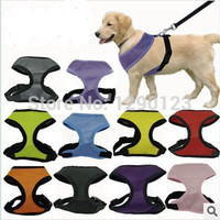 Soft Breathable Dog Harness Nylon Mesh Vest Harness for Dogs Puppy Cat Pets Chest Strap Leash 6 Colors 5 Sizes.Free Shipping