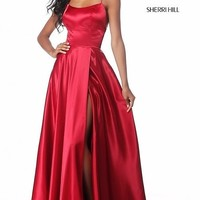 Long Open-Back Sherri Hill Prom Dress