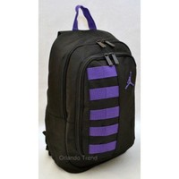 "Nike Air Jordan 14"" Laptop and Ipad / Tablet Backpack in Black and Purple at OrlandoTrend.com"