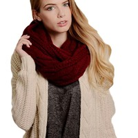 Classic Cable Knit Infinity, Red