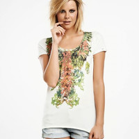 Flower Necklace Tee