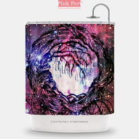 Dreamcatcher on Fox Galaxy Nebula Shower Curtain Home & Living 087
