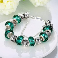 Green Meadows Pandora Inspired Bracelet