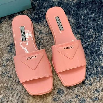 Prada summer new womens fashionable simple shoes slippers-2