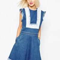 House of Holland Bib Denim Dress