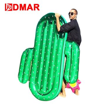 DMAR 185cm Inflatable Cactus Giant Pool Float Inflatable Mattress Rideable Mat Swimming Ring Circle Beach Sea Water Party Toys