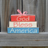 4th of July Decorations, Fourth of July Decor, July 4th Decor, Summer Wood Decor, Summer Stacker, Fourth of July Stacker