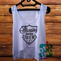 Sleeping With Sirens Logo crop tank Women's Cropped Tank Top