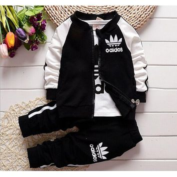 New Autumn casual baby girl/ boy clothes Cute minnie cotton t-shirt + coat + pants 3 suits baby clothes kids clothing sets