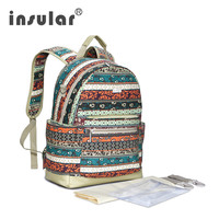 New Arrival Multifunctional Baby Diaper Bag Backpack Canvas Large Capacity Mommy Bag Nappy Bag Backpack Shipping Free