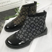 Louis Vuitton LV Autumn Winter Fashion Women Casual High Top Zipper Flat Shoes