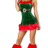 Holiday Strappy Dance Costumes Set