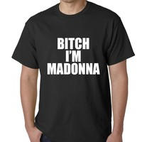 Mens Bitch I'm Madonna T-Shirt Medium Black